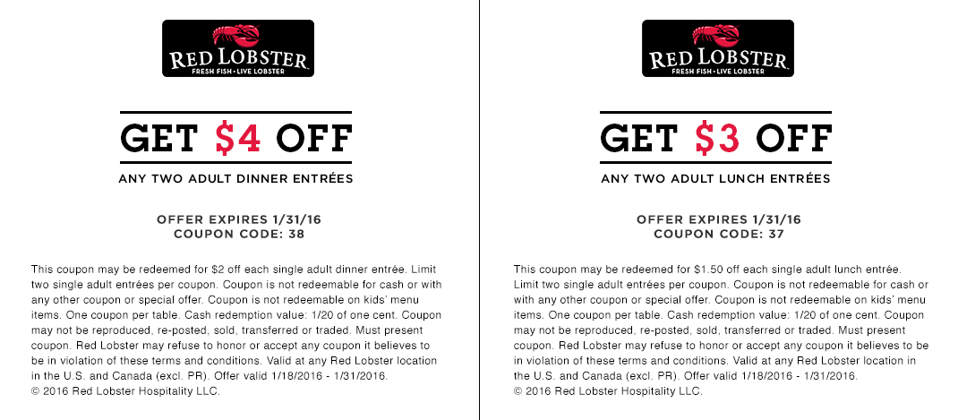 picture about Red Lobster Coupons Printable named Crimson Lobster Printable Coupon - Printable Coupon codes and Offers
